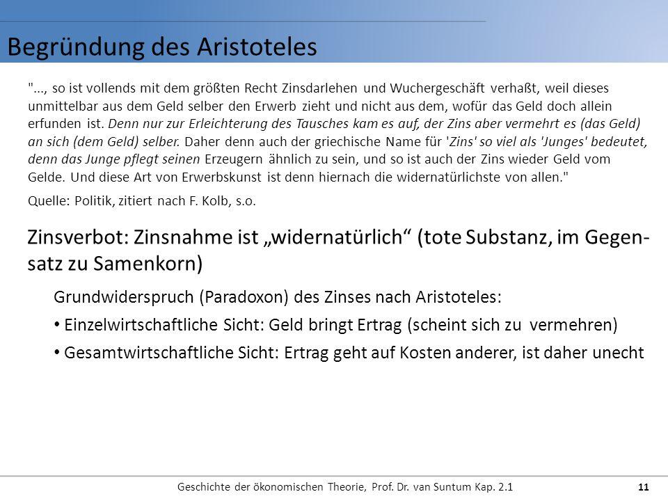Begründung des Aristoteles