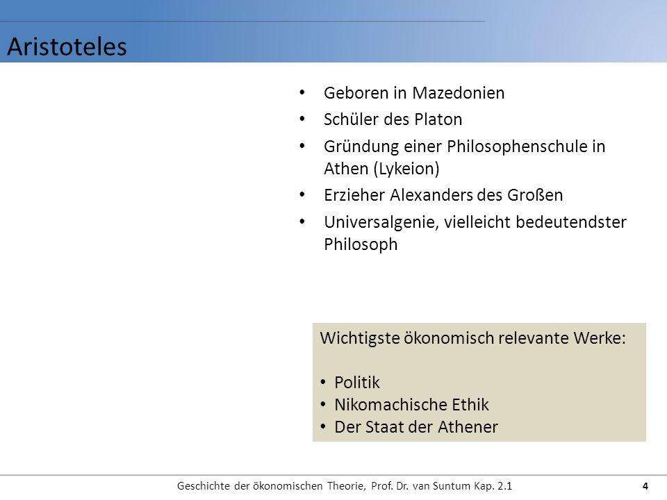 Geschichte der ökonomischen Theorie, Prof. Dr. van Suntum Kap. 2.1