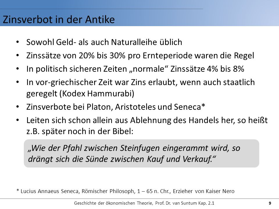 Zinsverbot in der Antike
