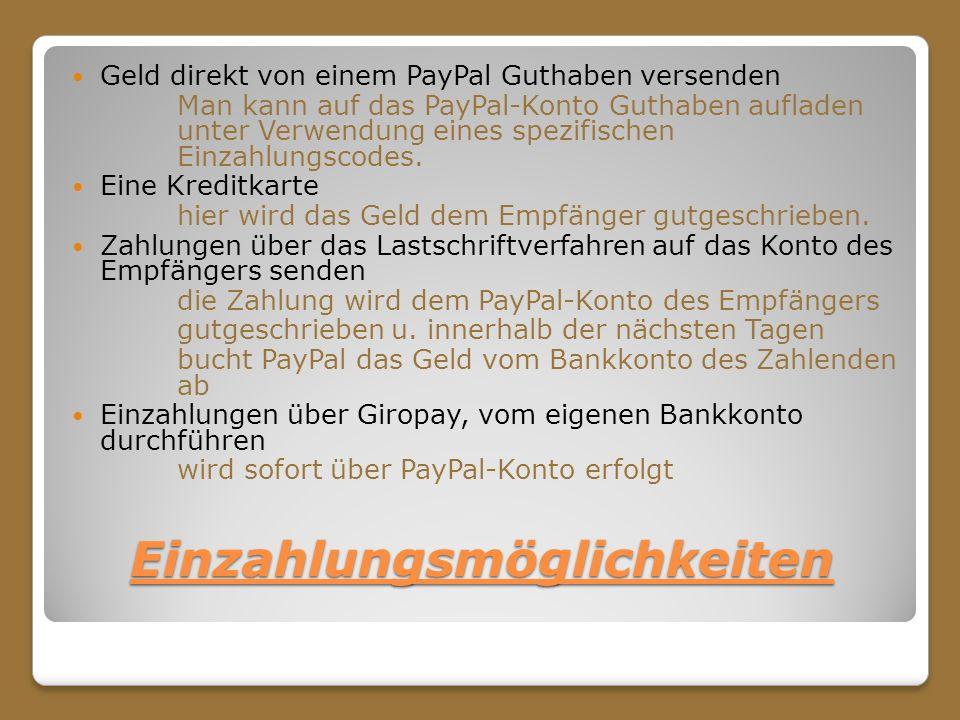 Wie Schnell Bucht Paypal Vom Konto Ab