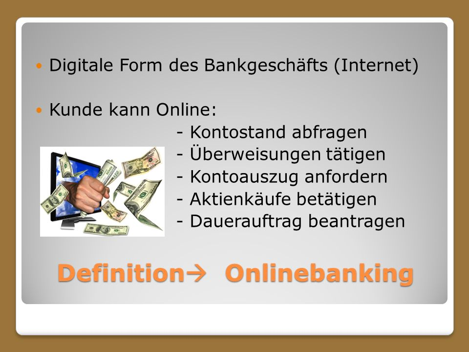 Definition Onlinebanking