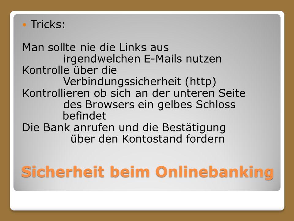 Sicherheit beim Onlinebanking
