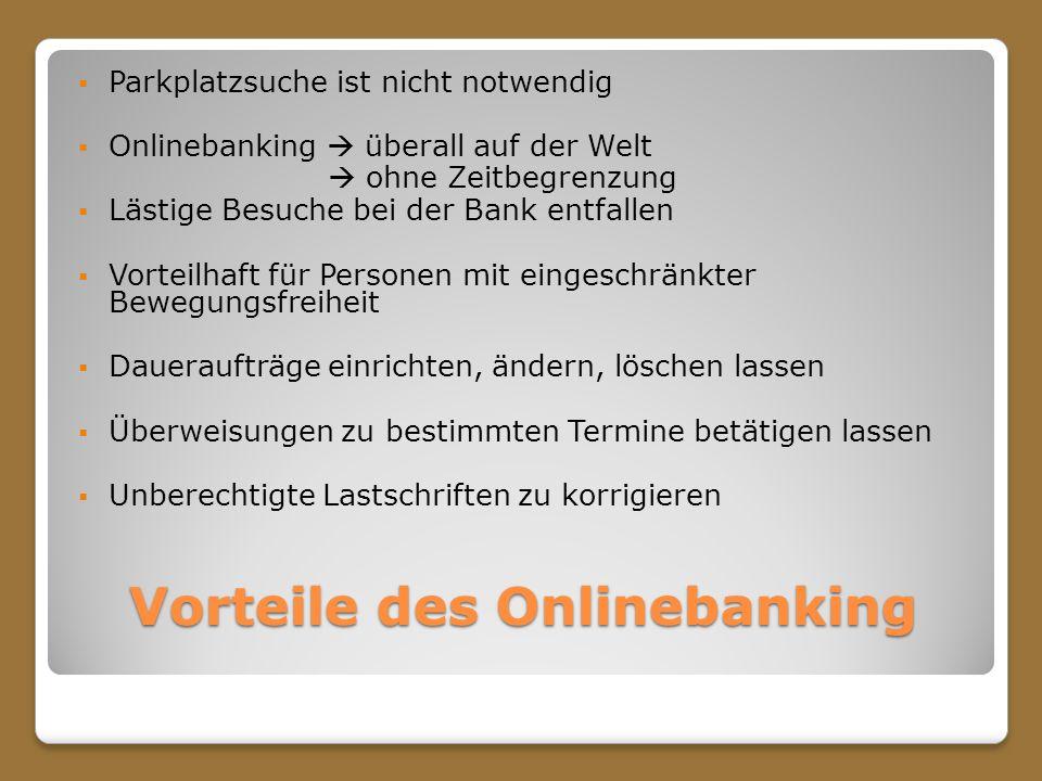 Vorteile des Onlinebanking