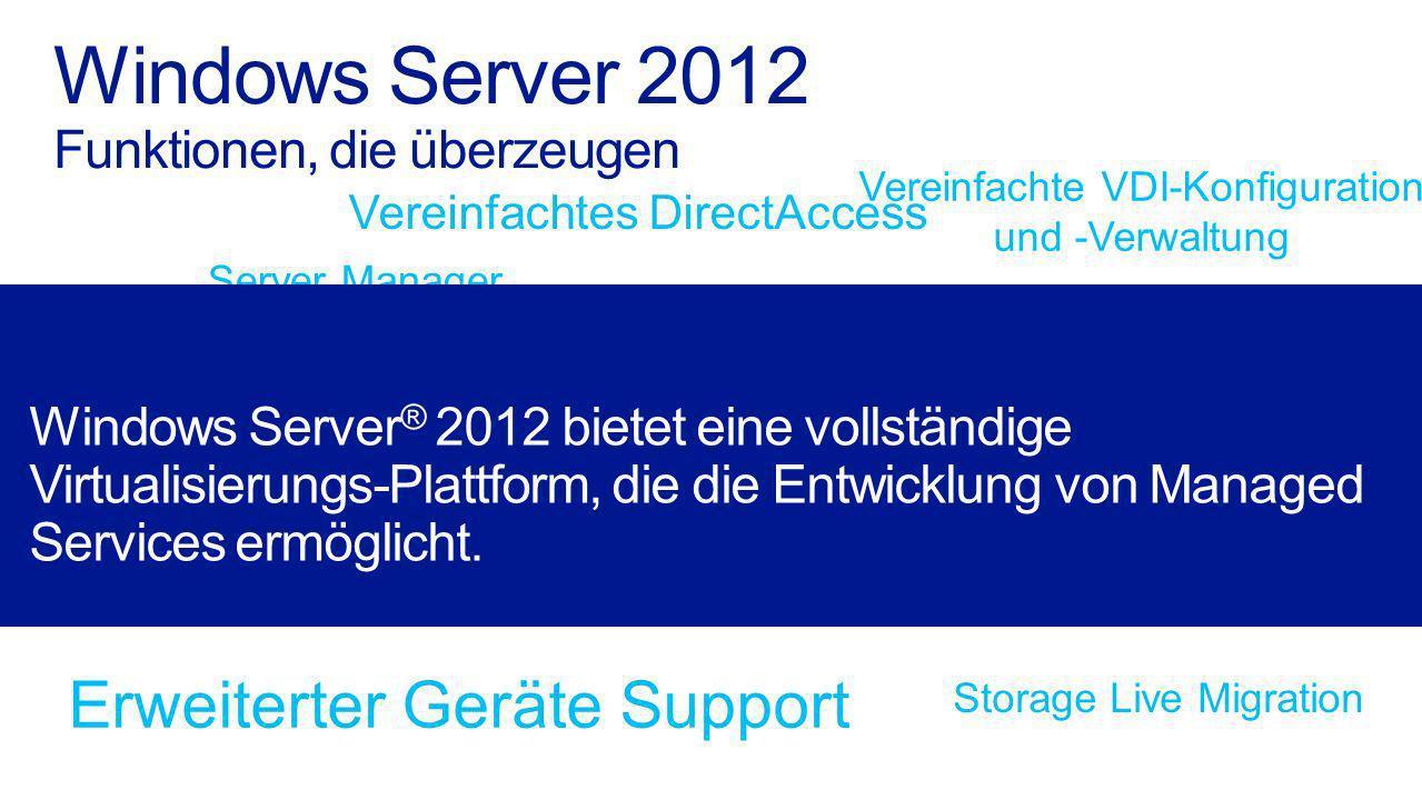 Windows Server 2012 Funktionen, die überzeugen