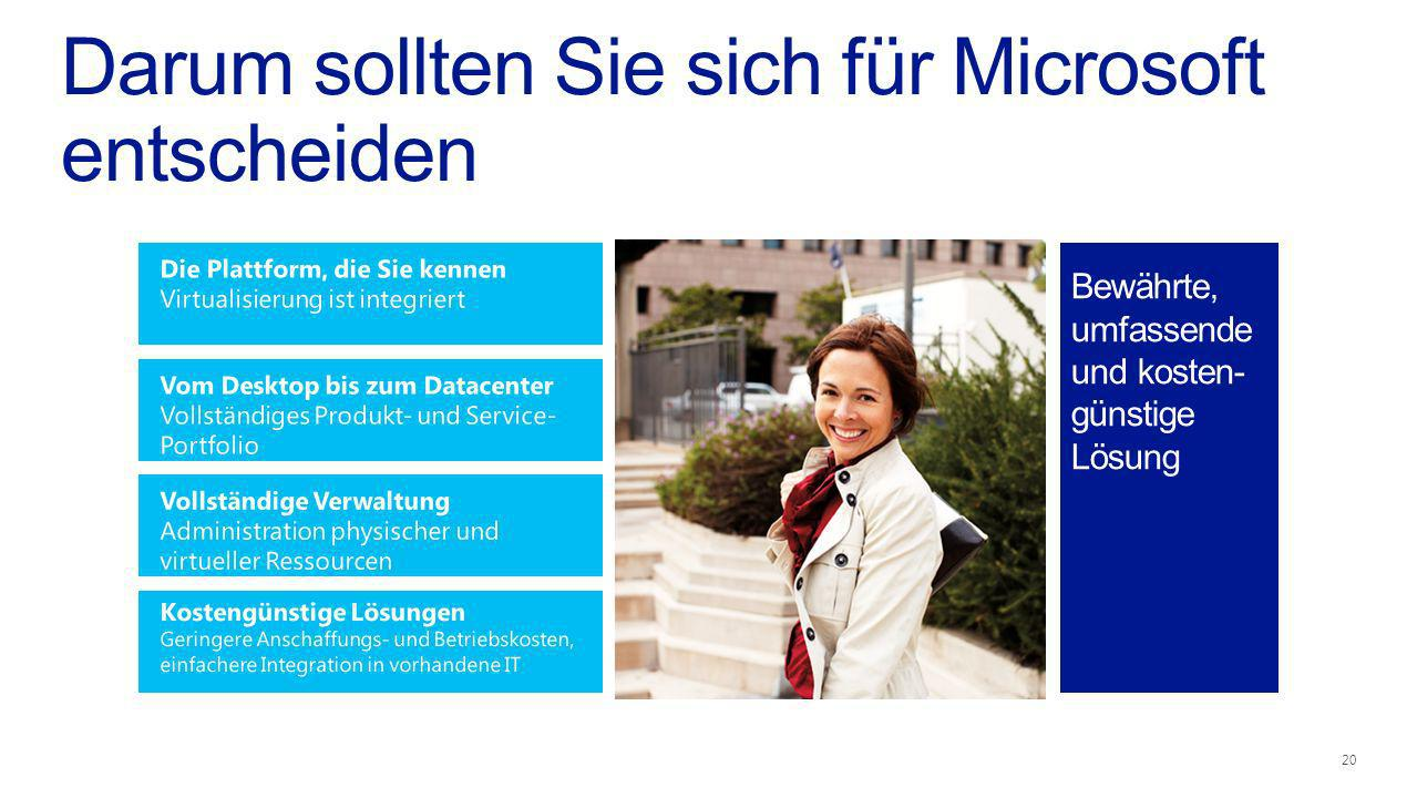 Darum sollten Sie sich für Microsoft entscheiden