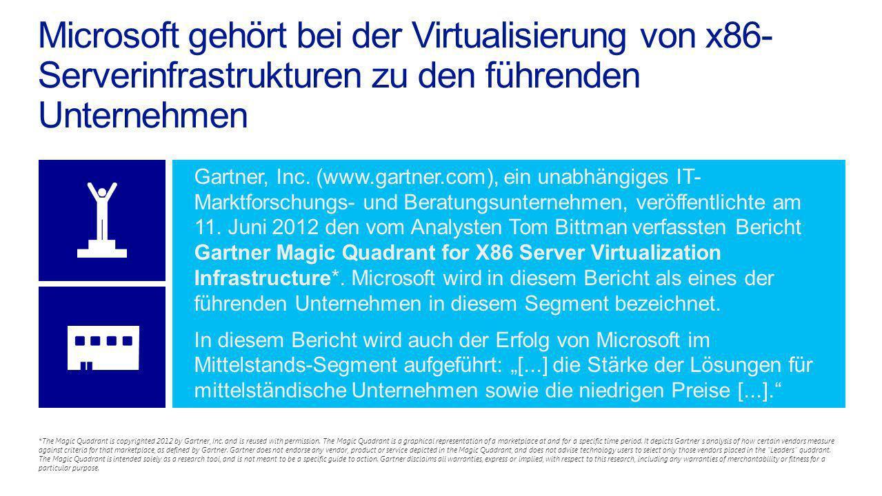 Microsoft gehört bei der Virtualisierung von x86-Serverinfrastrukturen zu den führenden Unternehmen