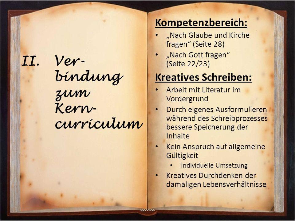 Ver-bindung zum Kern-curriculum