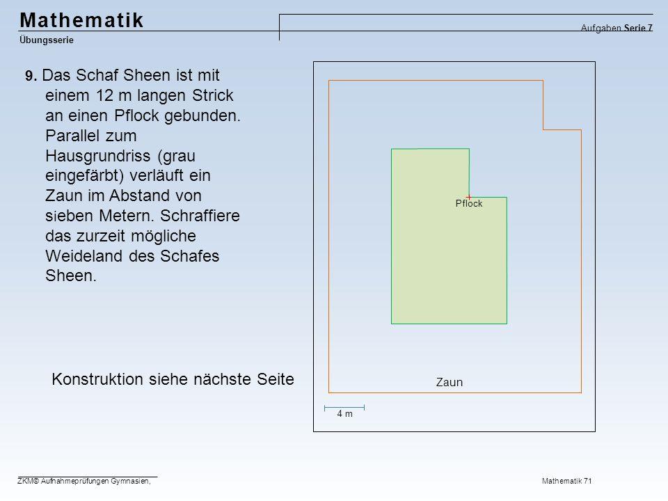 Mathematik Konstruktion siehe nächste Seite
