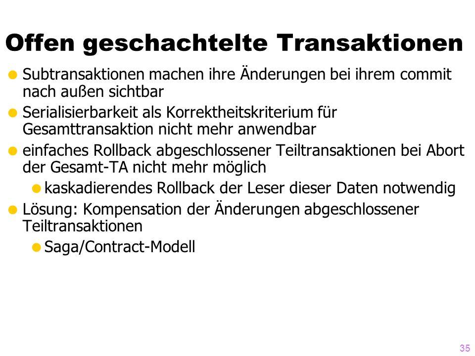 Offen geschachtelte Transaktionen