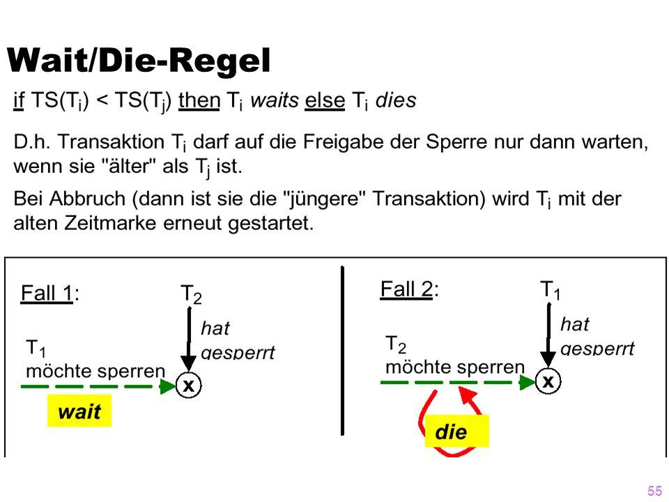 Wait/Die-Regel