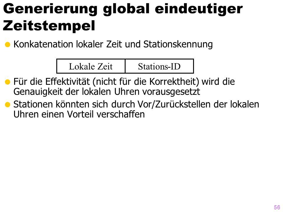 Generierung global eindeutiger Zeitstempel