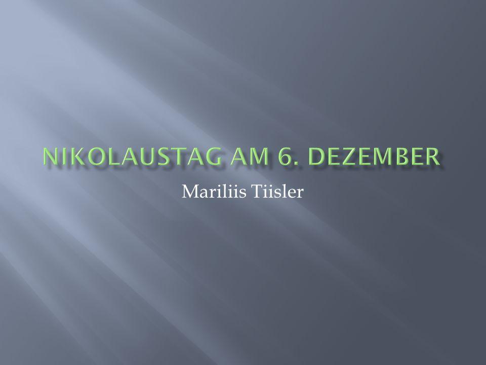 Nikolaustag am 6. Dezember