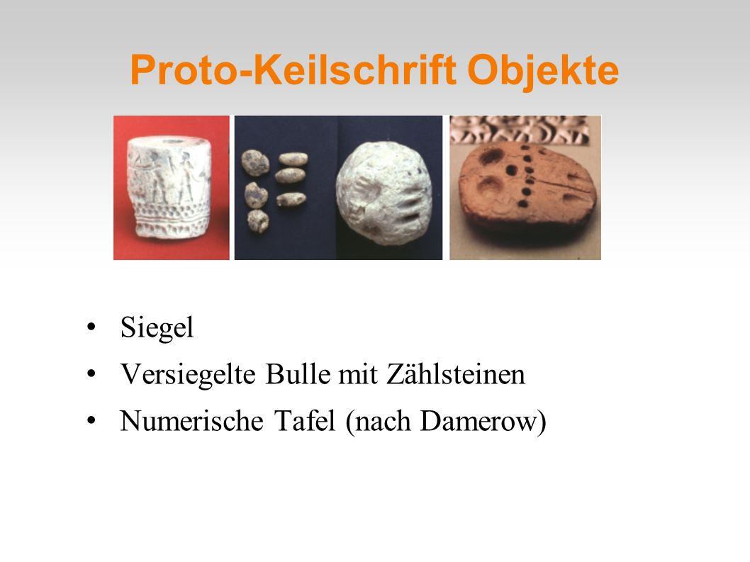 Proto-Keilschrift Objekte