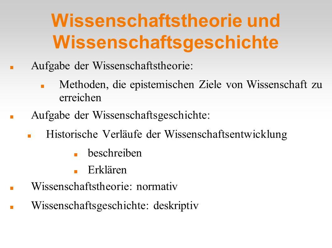 Wissenschaftstheorie und Wissenschaftsgeschichte