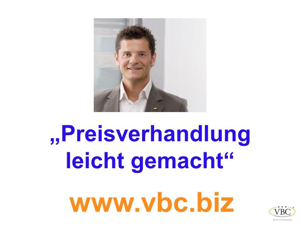 """""""Preisverhandlung leicht gemacht www.vbc.biz"""
