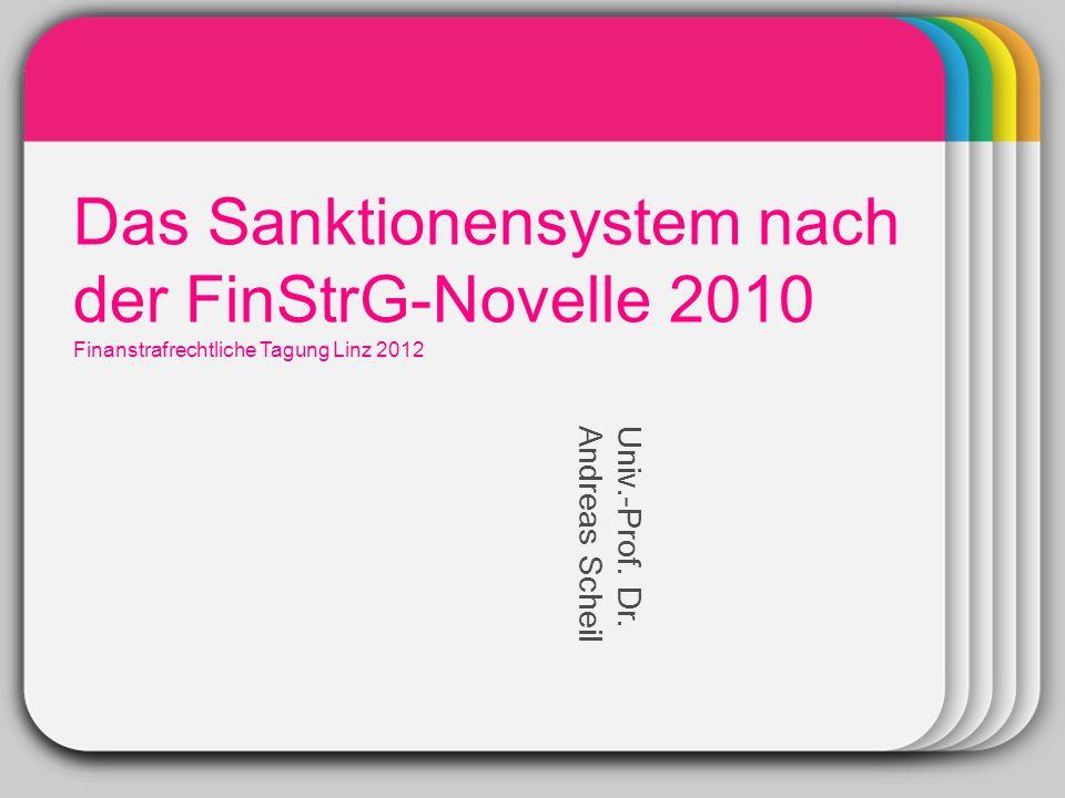 WINTER Das Sanktionensystem nach der FinStrG-Novelle 2010 Template
