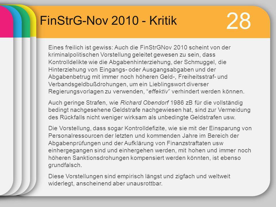 28 FinStrG-Nov 2010 - Kritik.