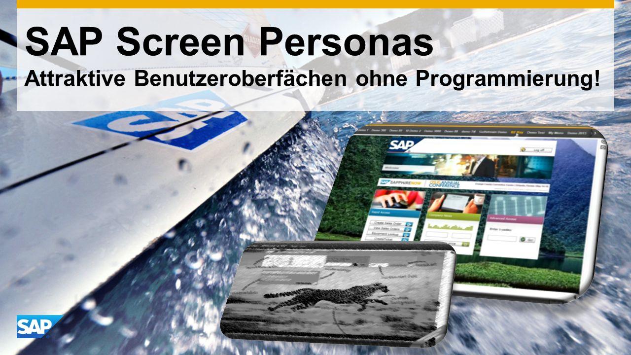 SAP Screen Personas Attraktive Benutzeroberfächen ohne Programmierung!