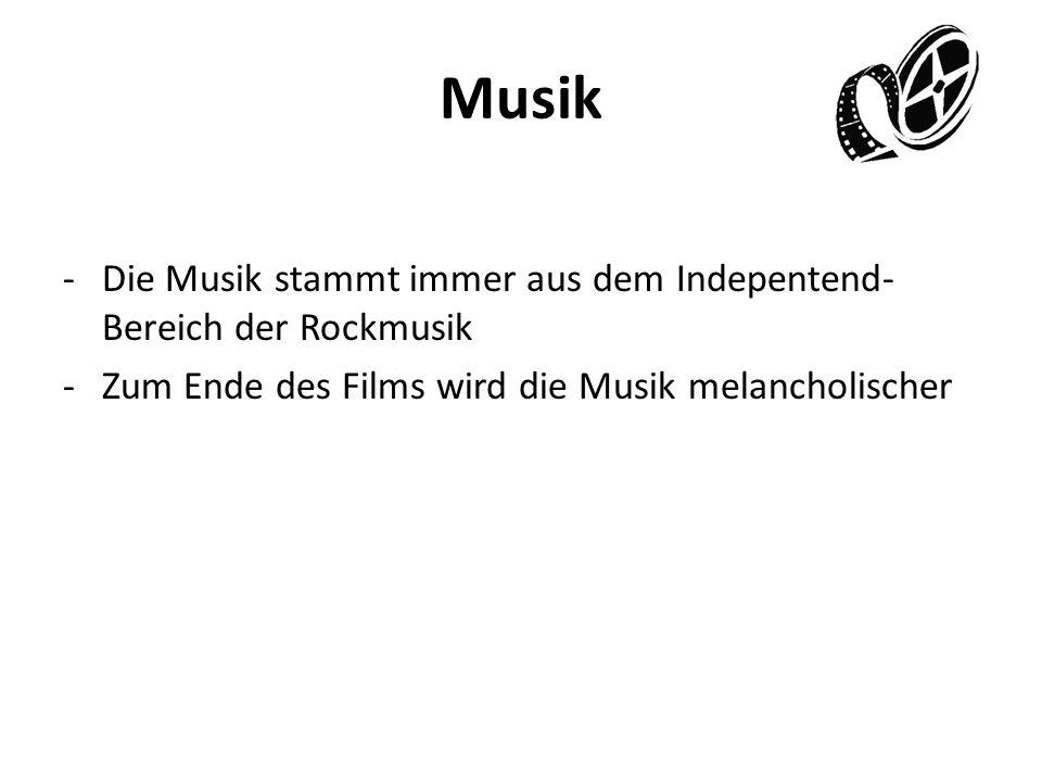 Musik Die Musik stammt immer aus dem Indepentend-Bereich der Rockmusik