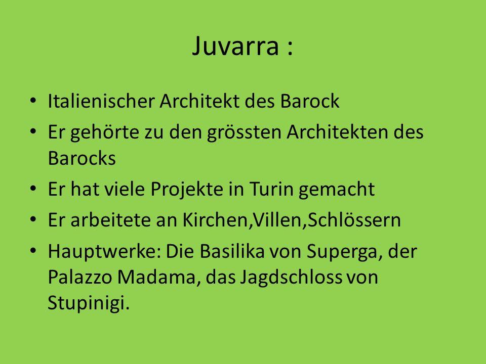 Juvarra : Italienischer Architekt des Barock