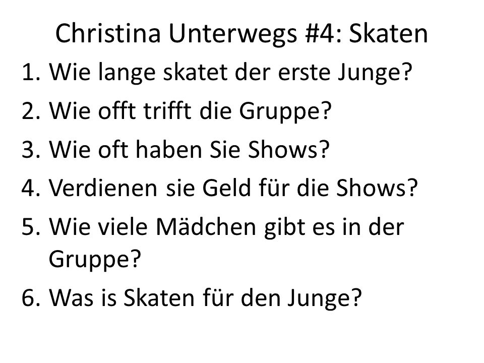 Christina Unterwegs #4: Skaten