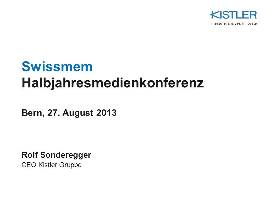 Swissmem Halbjahresmedienkonferenz Bern, 27. August 2013