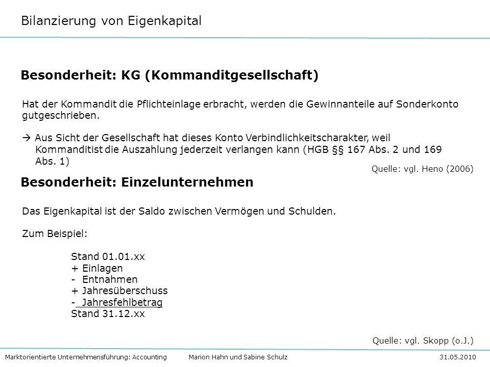 Besonderheit: KG (Kommanditgesellschaft)