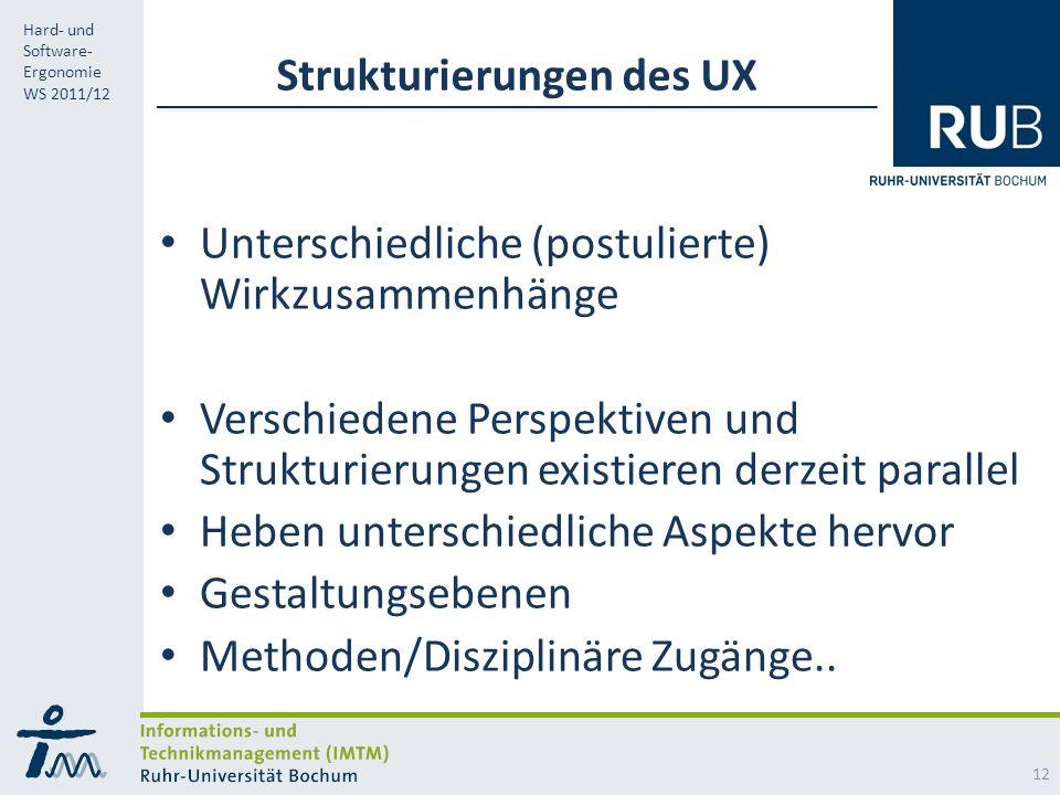Strukturierungen des UX