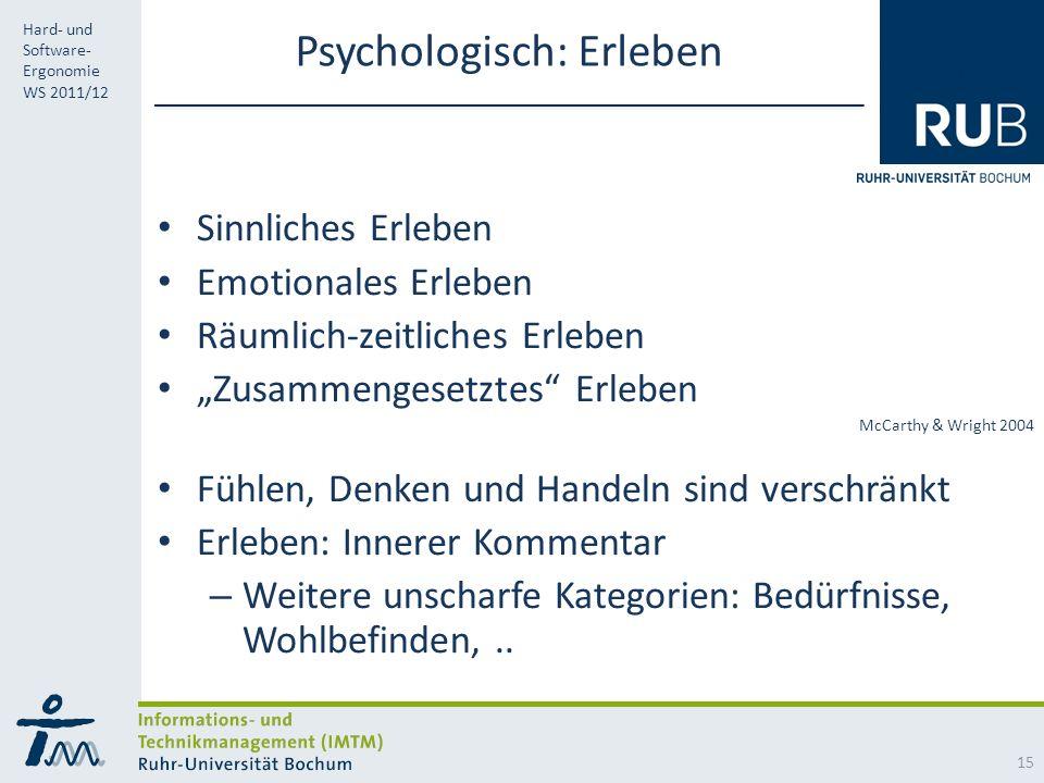 Psychologisch: Erleben