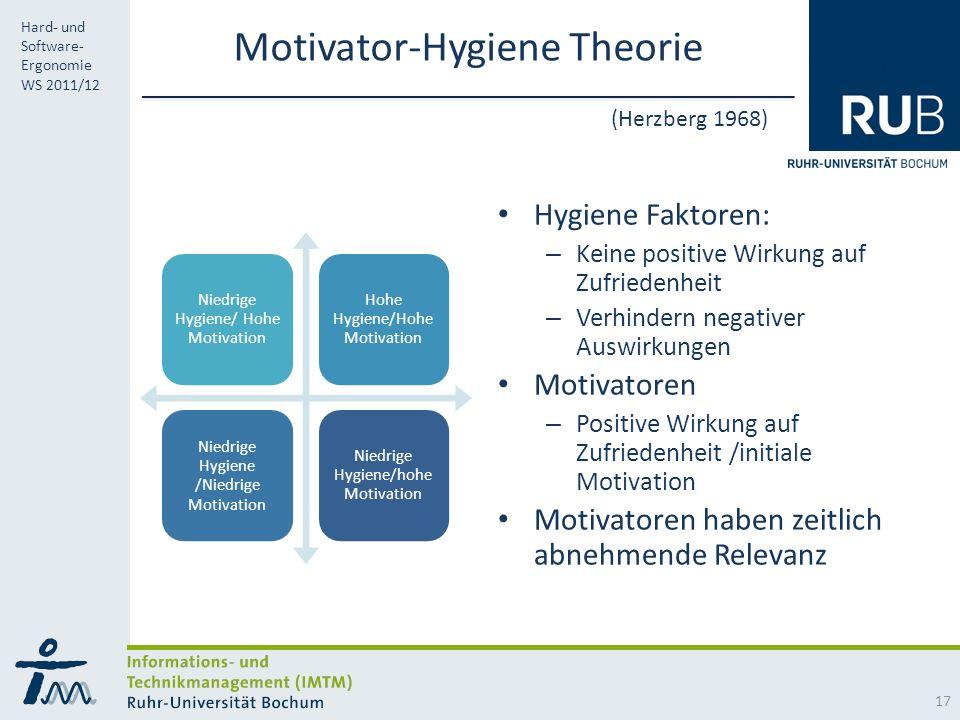 Motivator-Hygiene Theorie