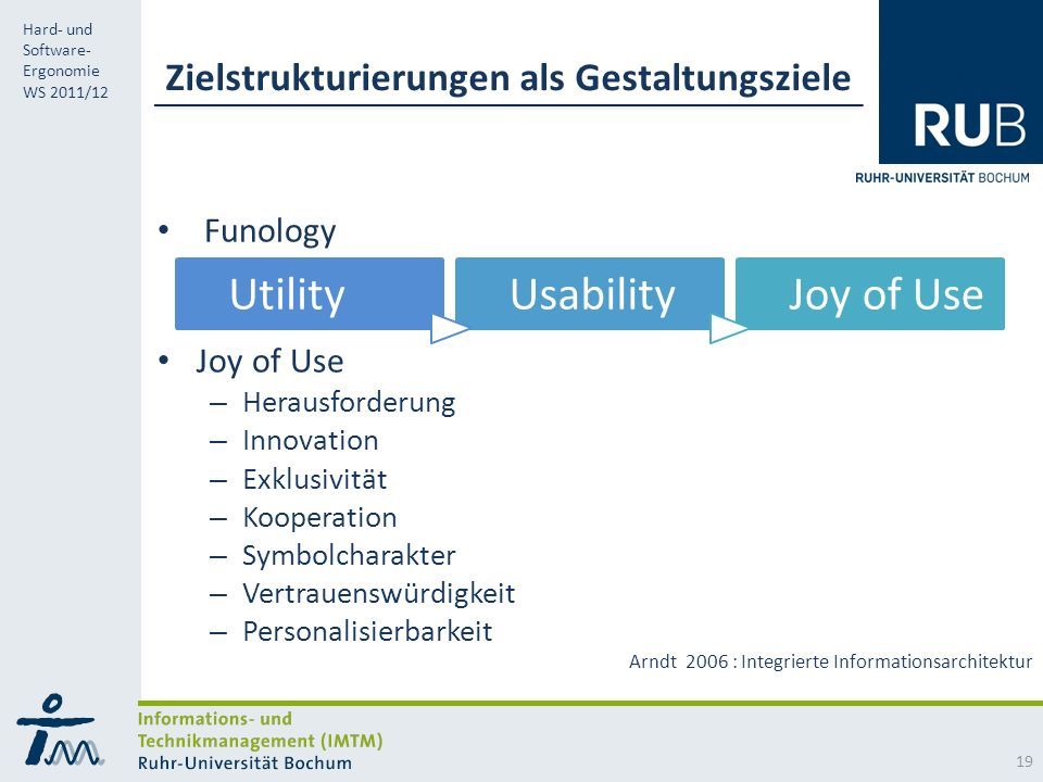 Zielstrukturierungen als Gestaltungsziele