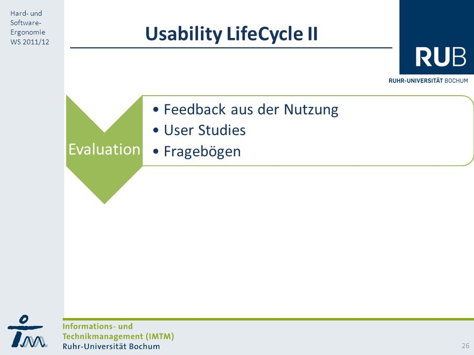 Usability LifeCycle II