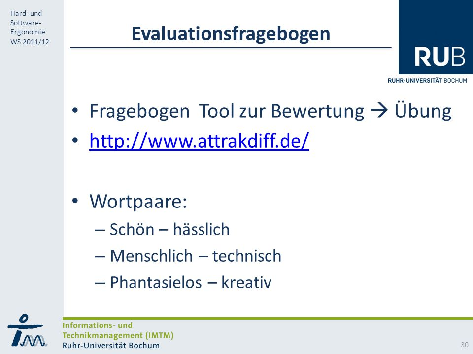 Evaluationsfragebogen
