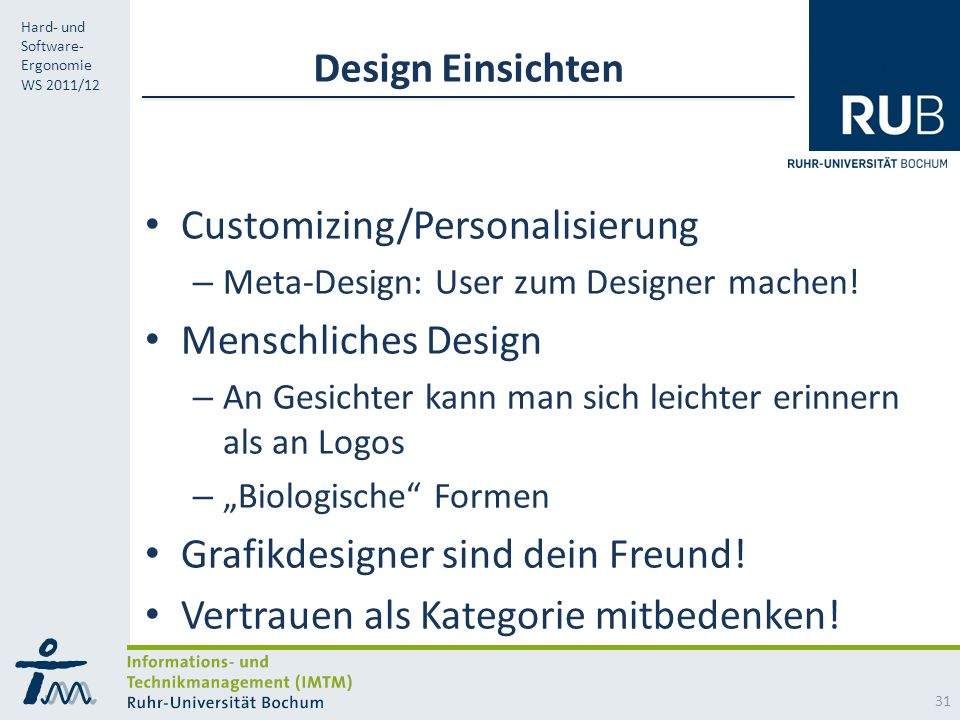 Customizing/Personalisierung Menschliches Design