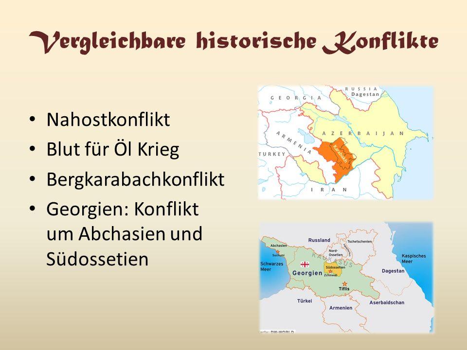 Vergleichbare historische Konflikte