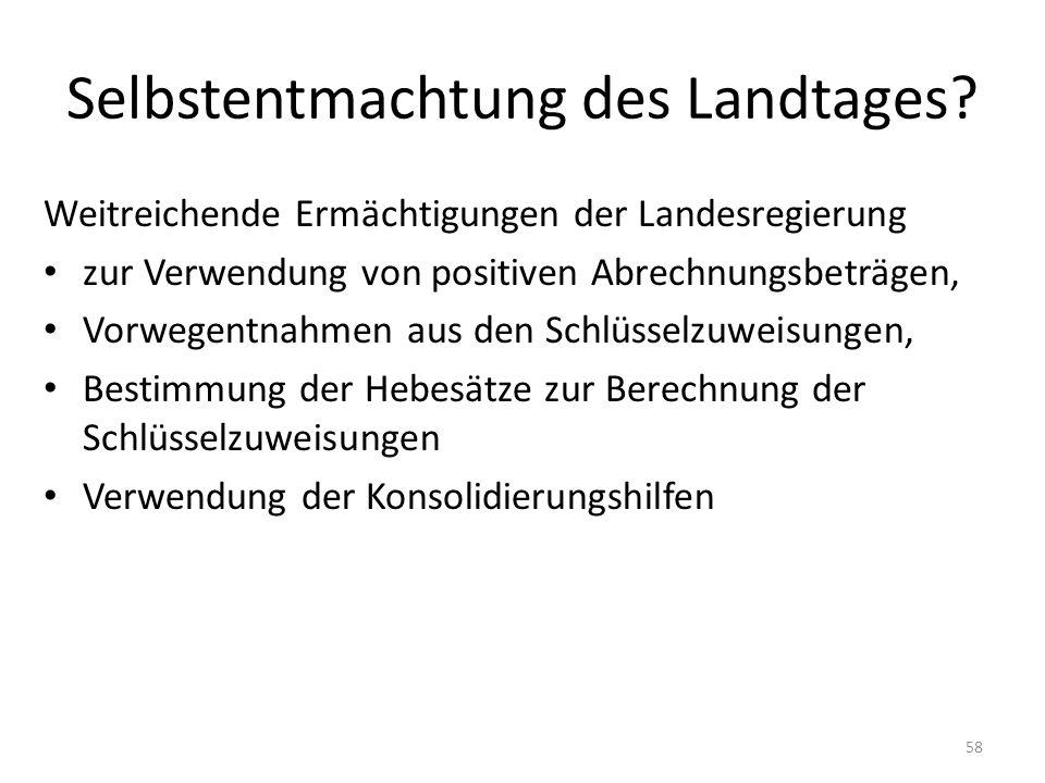 Selbstentmachtung des Landtages