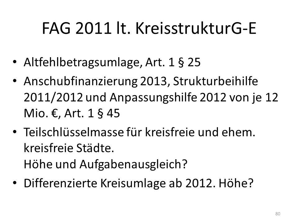 FAG 2011 lt. KreisstrukturG-E