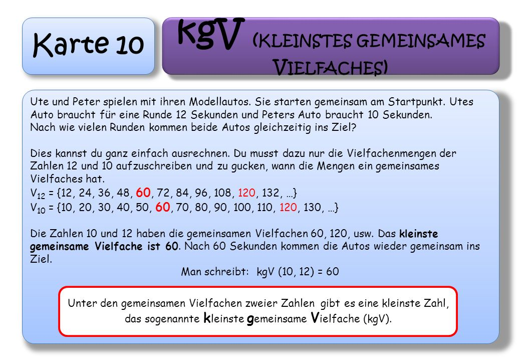 kgV (kleinstes gemeinsames Vielfaches)