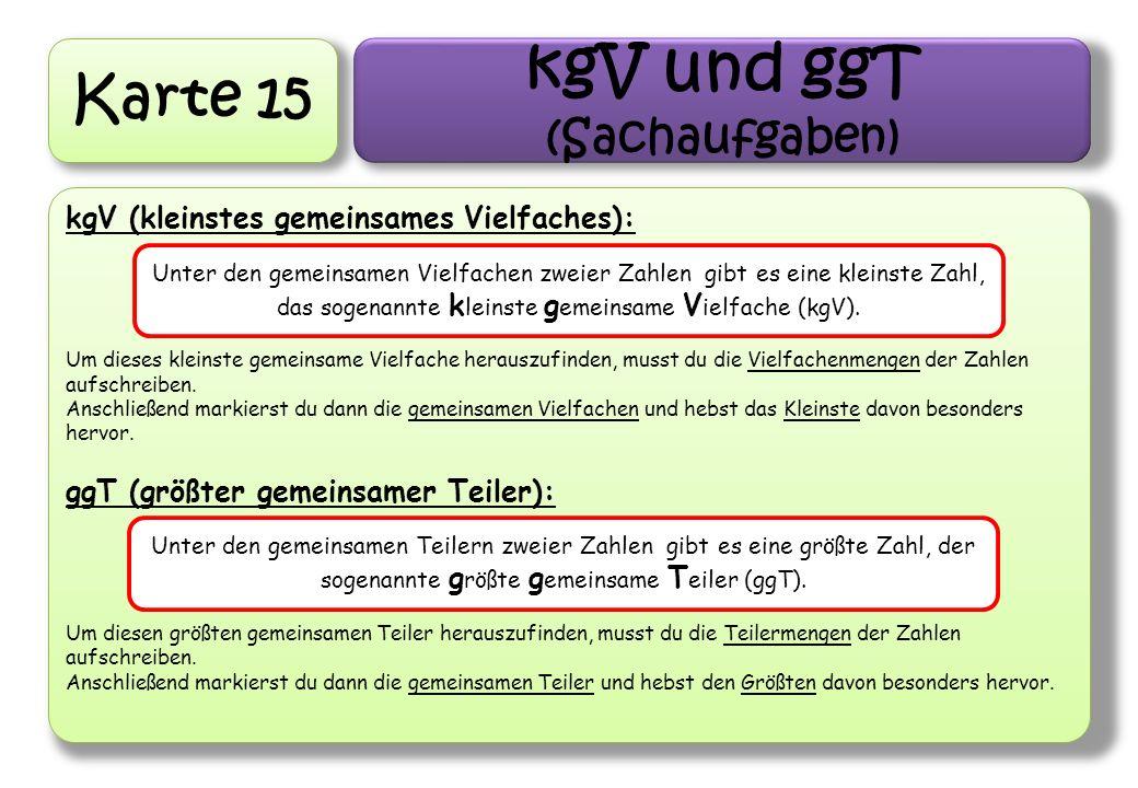 kgV und ggT (Sachaufgaben)