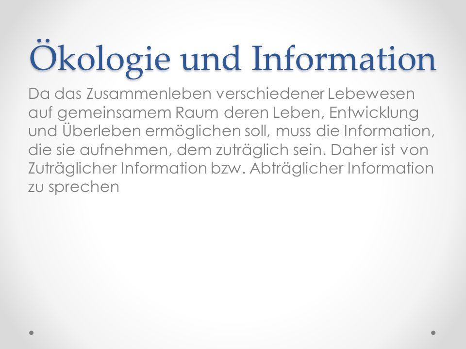 Ökologie und Information