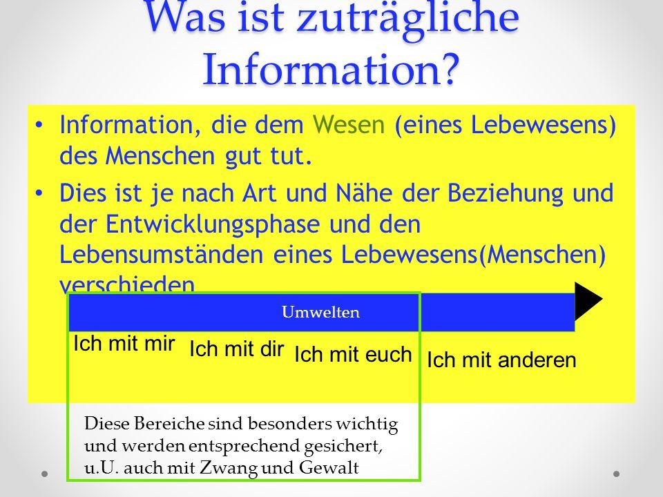 Was ist zuträgliche Information