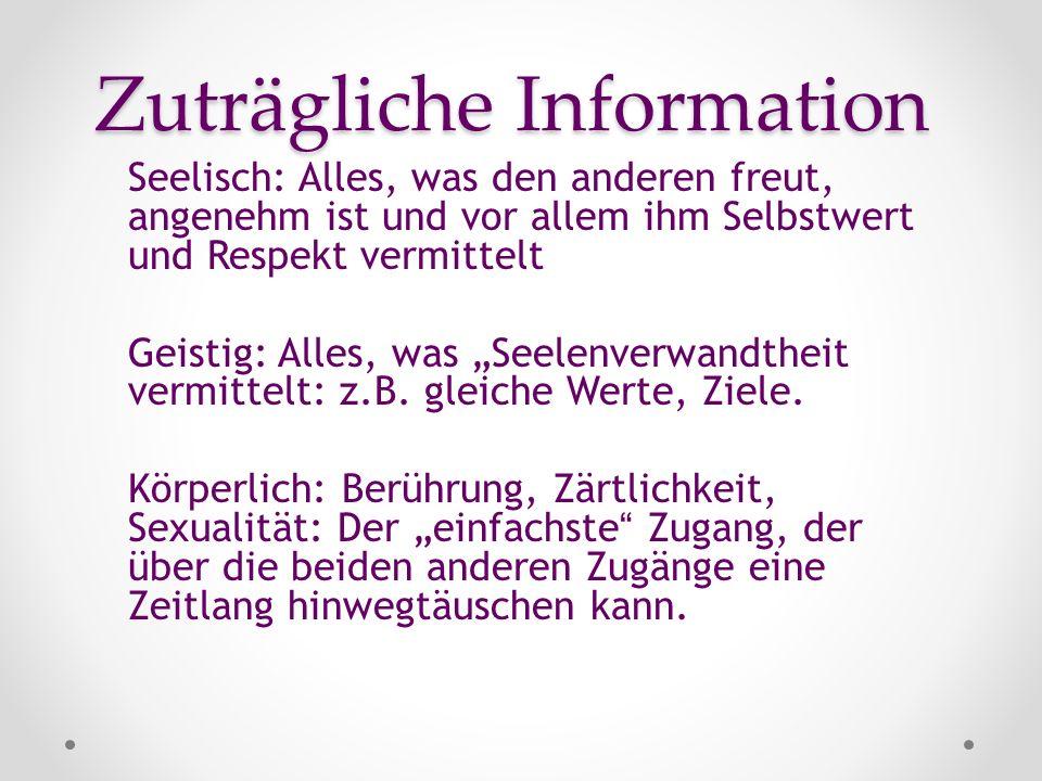 Zuträgliche Information