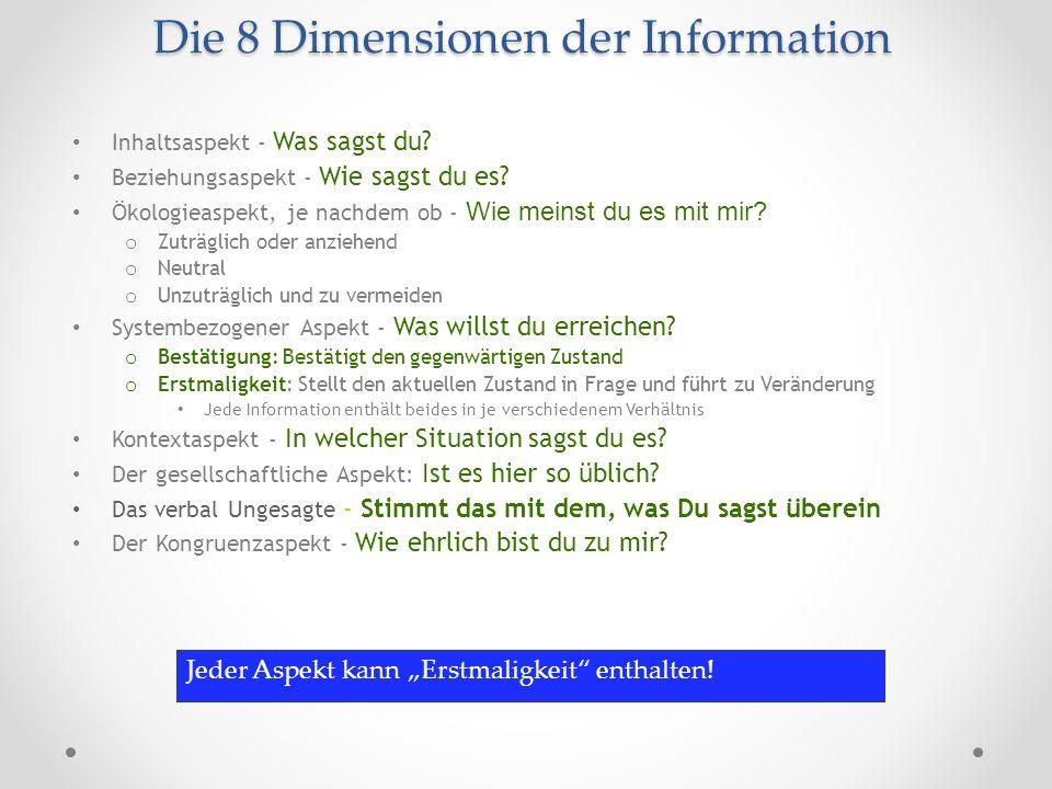 Die 8 Dimensionen der Information
