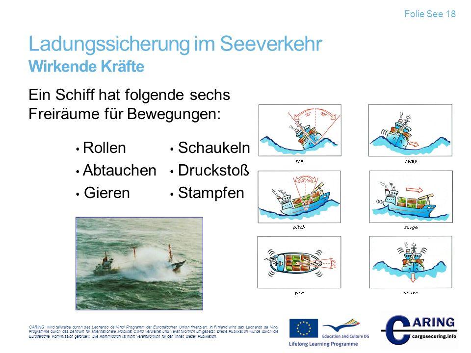 Ladungssicherung im Seeverkehr Wirkende Kräfte