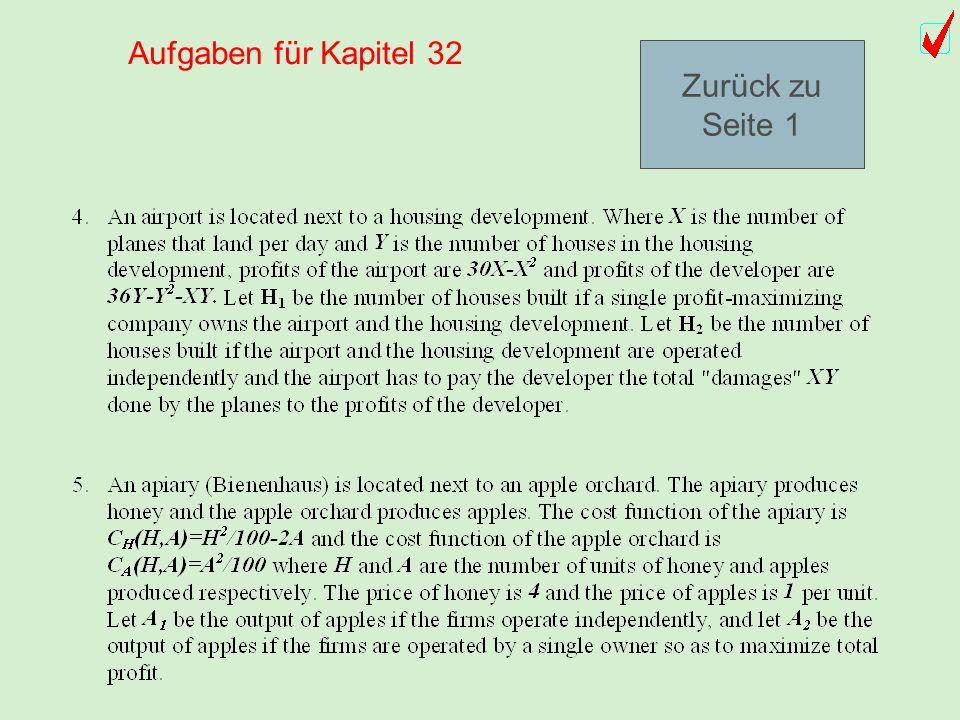 Aufgaben für Kapitel 32 Zurück zu Seite 1