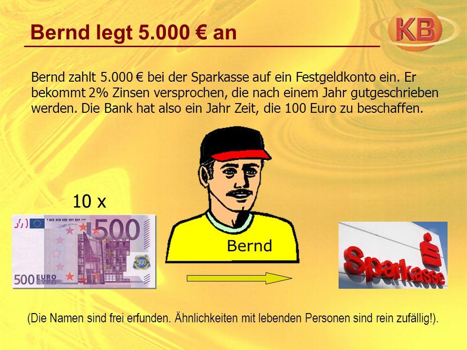 Bernd legt 5.000 € an