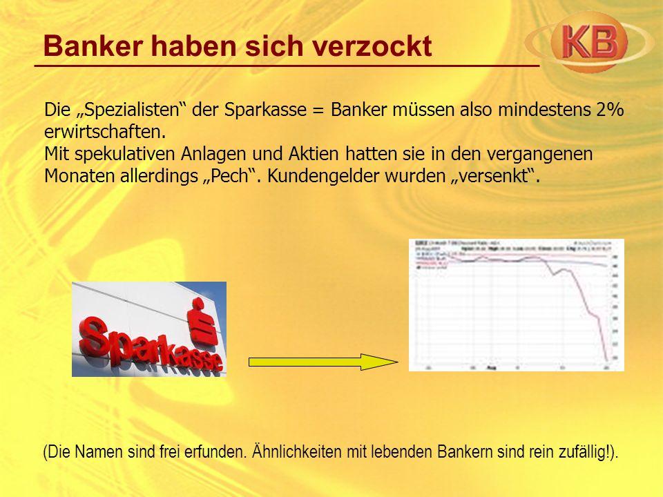 Banker haben sich verzockt