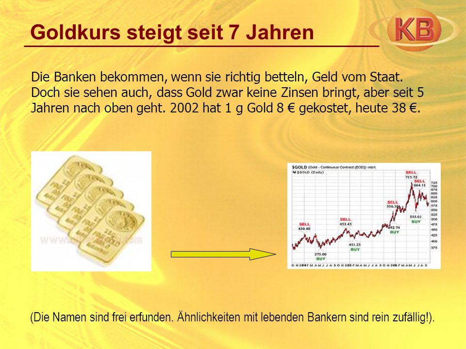 Goldkurs steigt seit 7 Jahren