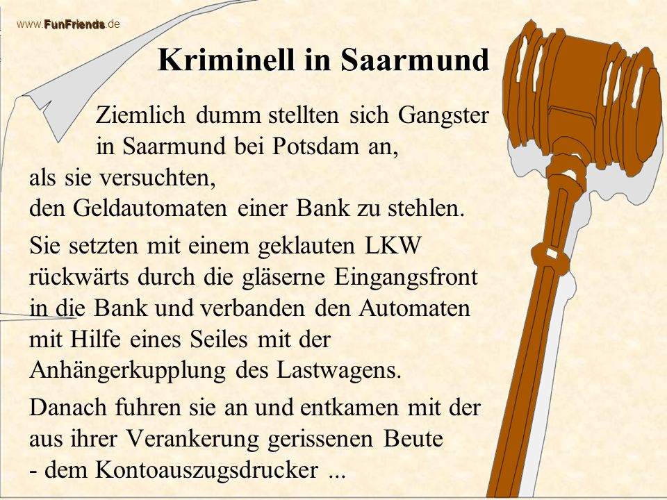 Kriminell in Saarmund