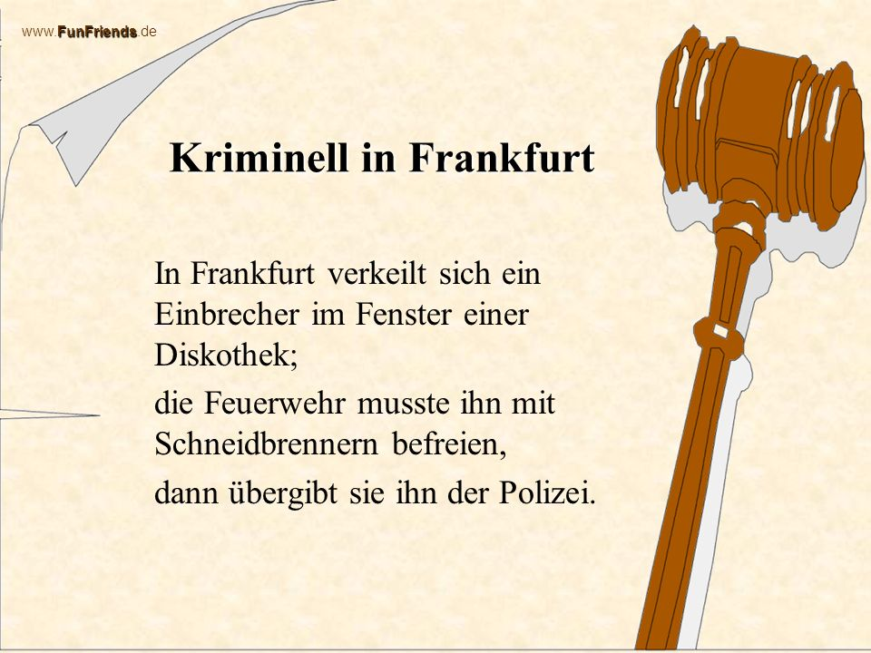 Kriminell in Frankfurt